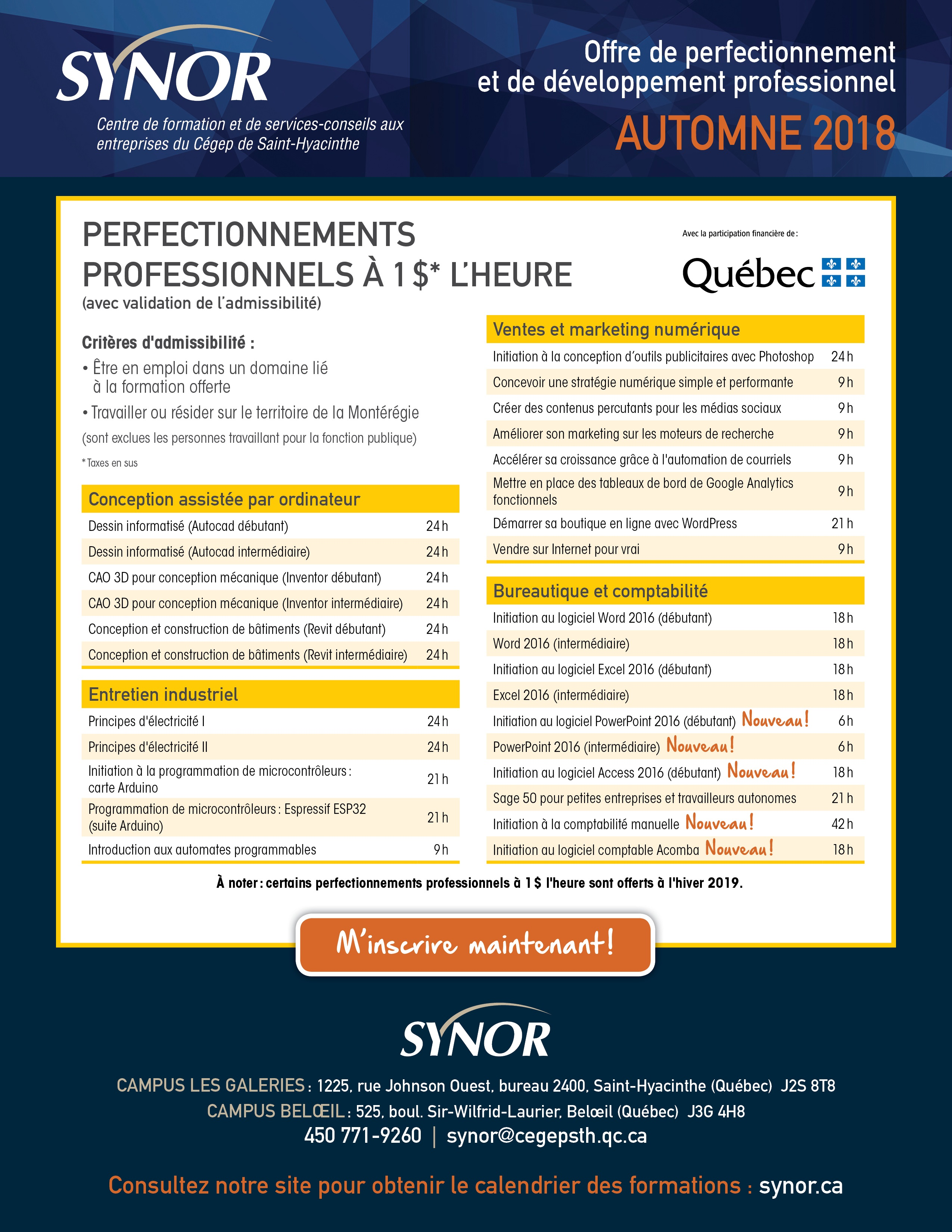 OffreCoursA18 - SYNOR-perfectionnement
