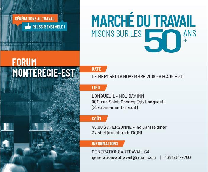Action-Emploi : Forum Marché du travail – Misons sur les 50 ans et plus!
