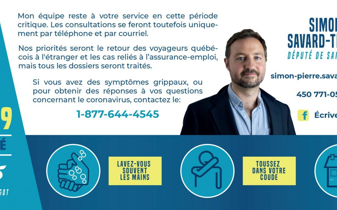Message de Simon-Pierre Savard-Tremblay, député