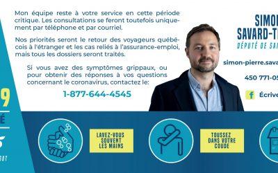 Message de Simon-Pierre Savard-Tremblay, député