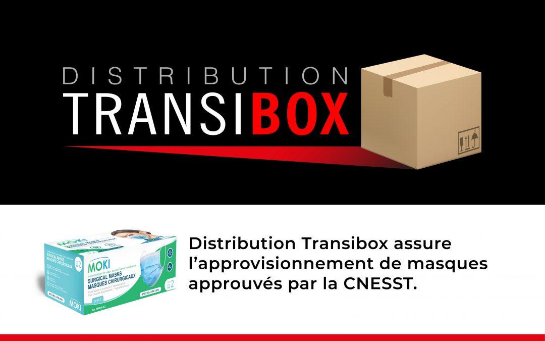 Distribution TRANSIBOX : Des masques approuvés CNESST