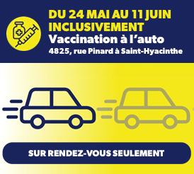 Vaccination à l'auto : Hydro-Québec et Intact contribuent à l'effort de vaccination